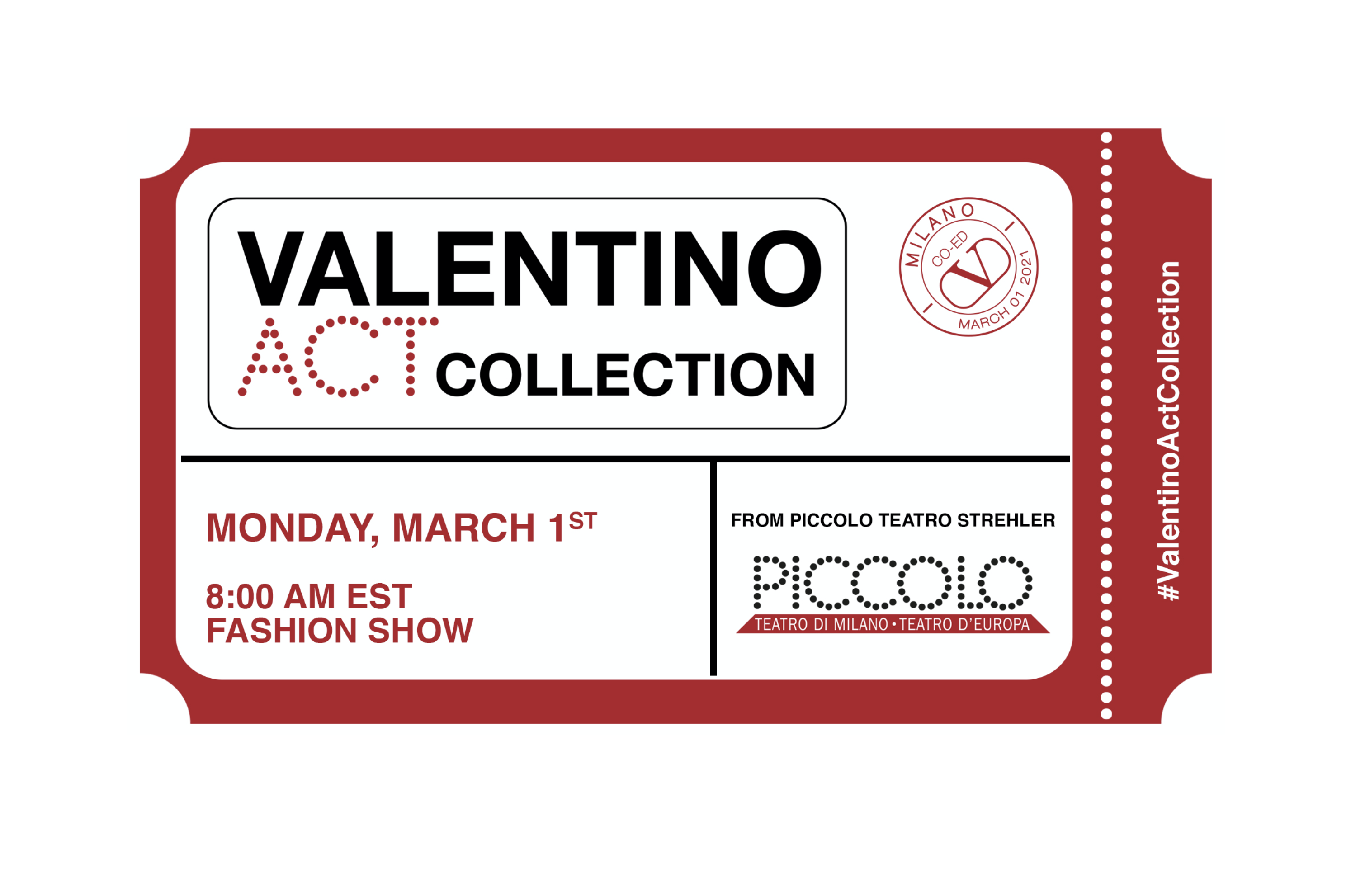 Watch Valentino Fall 2021 Runway Show Live from Milan