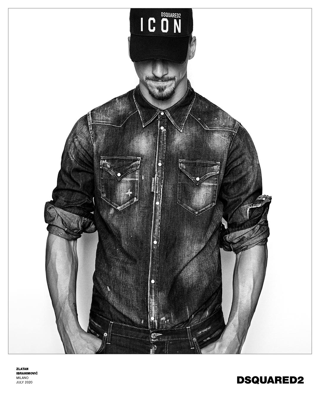 Dsquared2 Zlatan Ibrahimovic Spring 2021 Ad Campaign