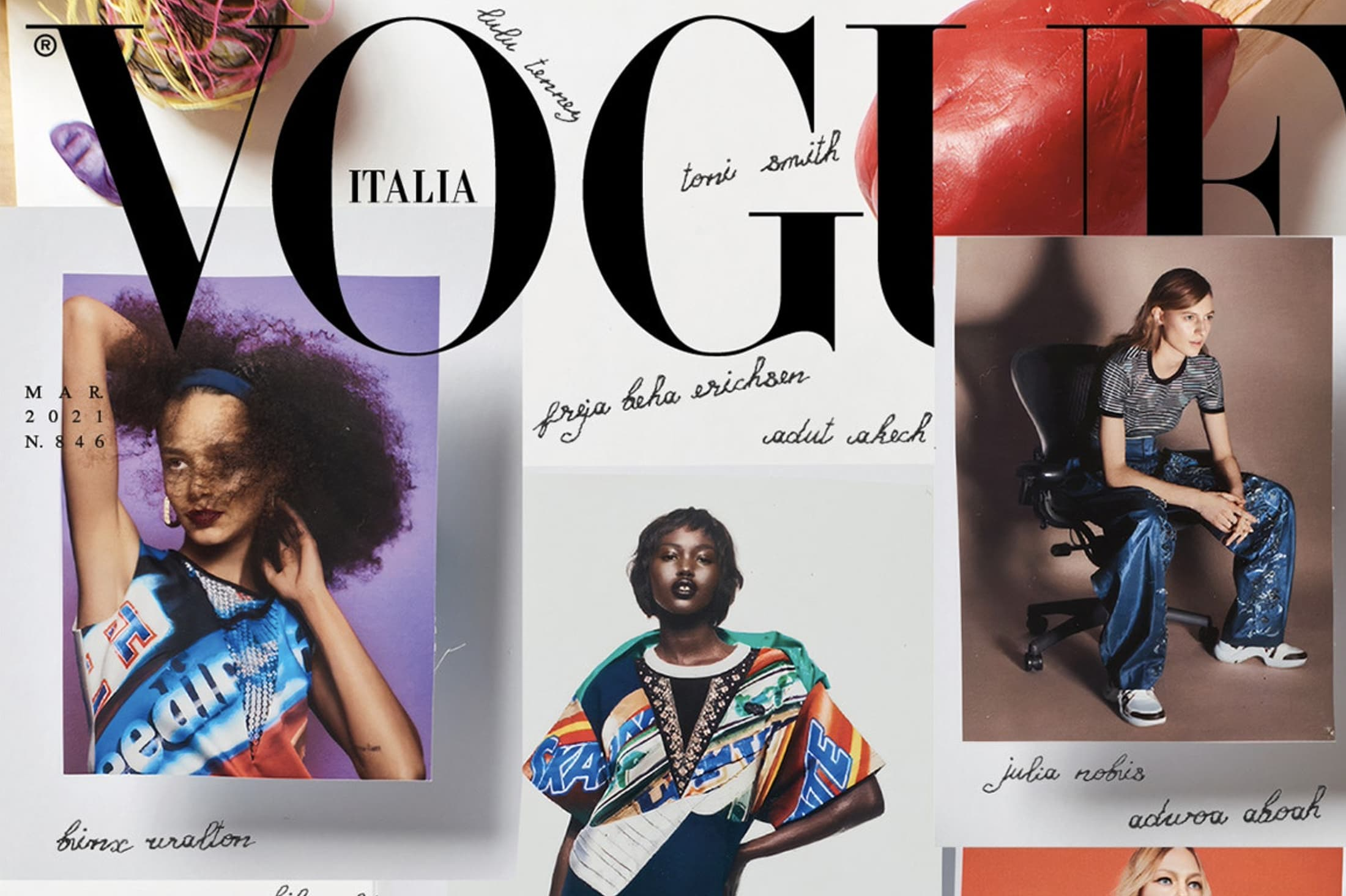 Vogue Italia March 2021 Issue Launches with 49 Artists