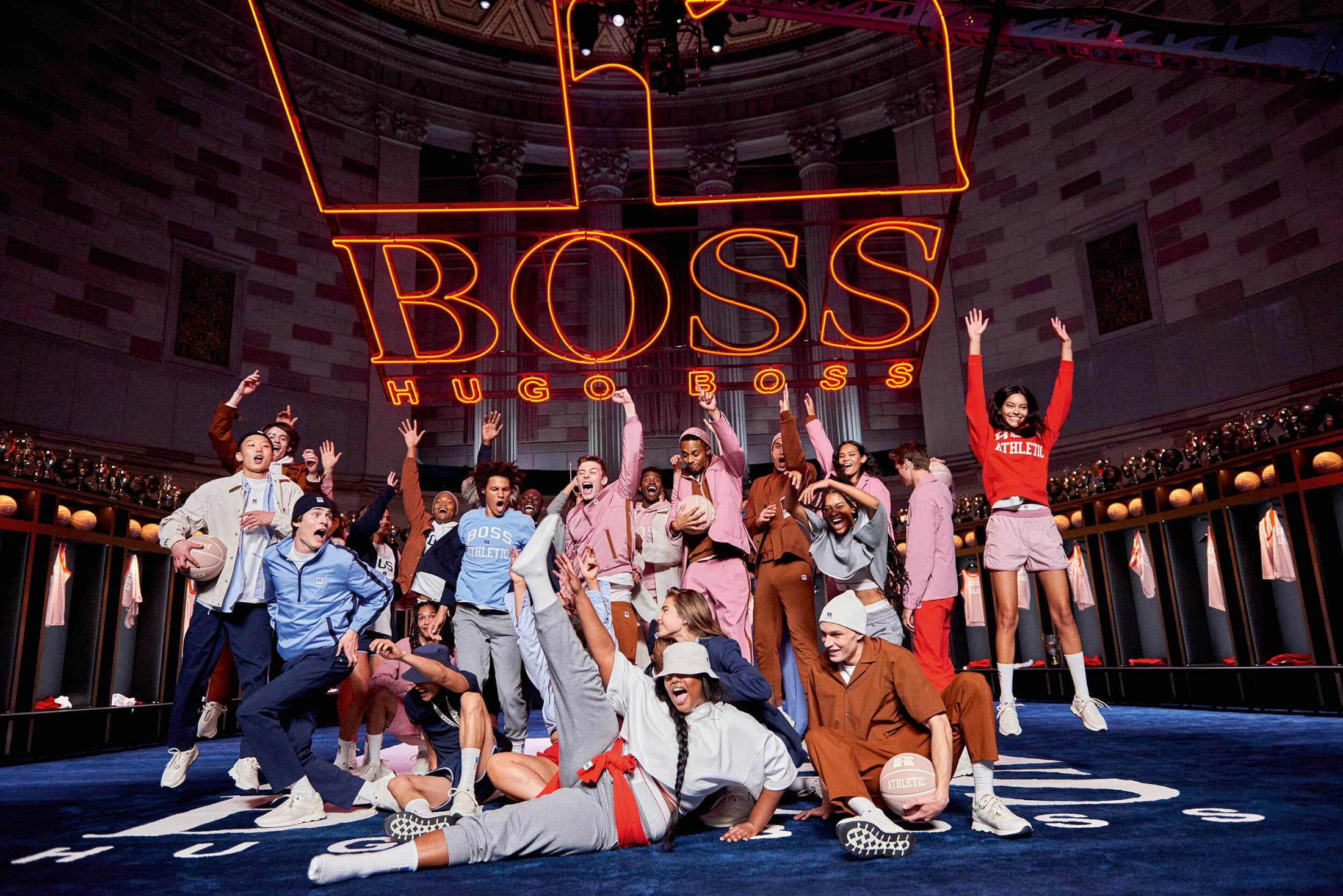 Boss x Russell Athletic Spring 2021 Ad Campaign Photos