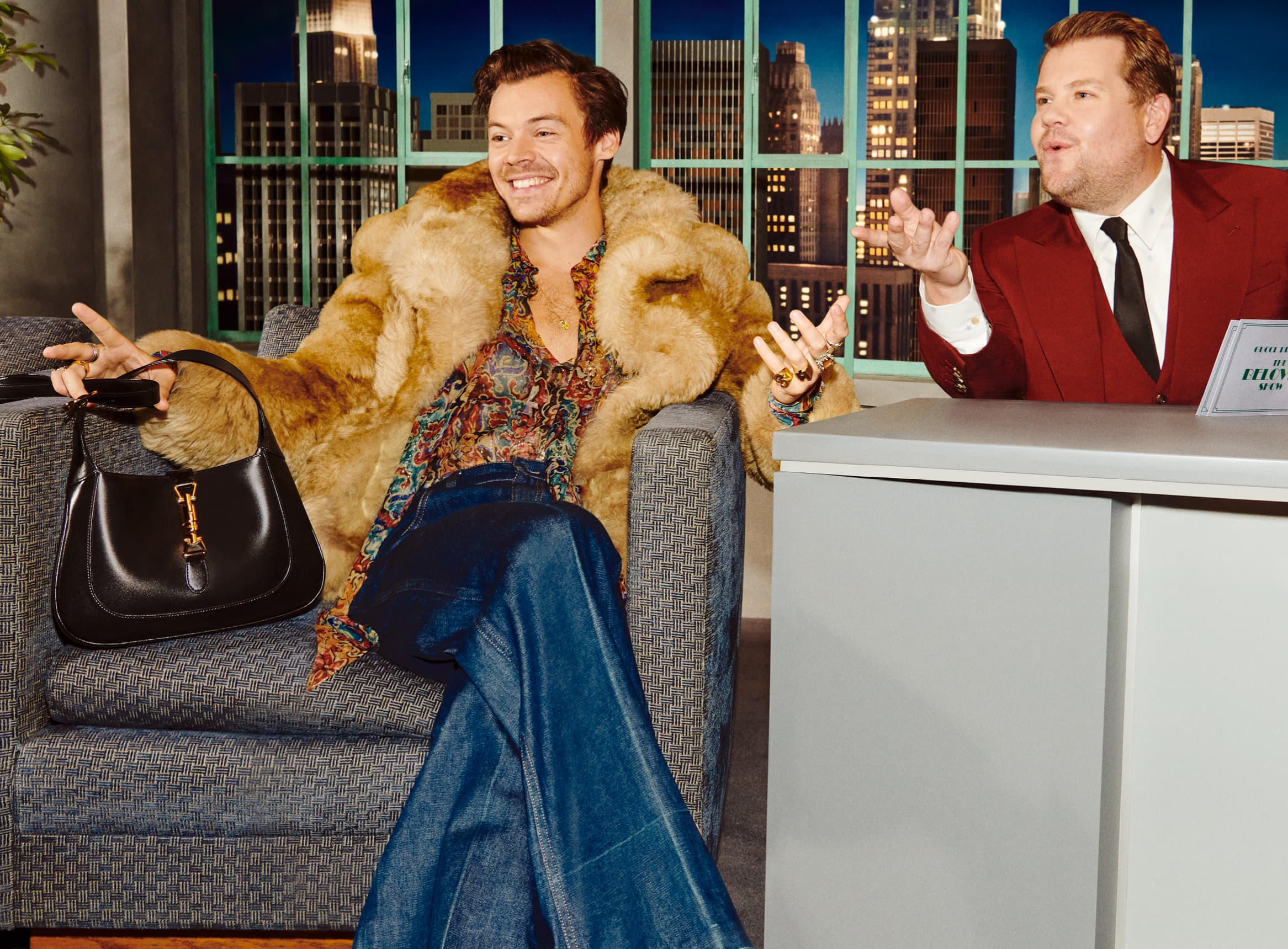 Gucci Talk Show Ad Campaign with James Corden