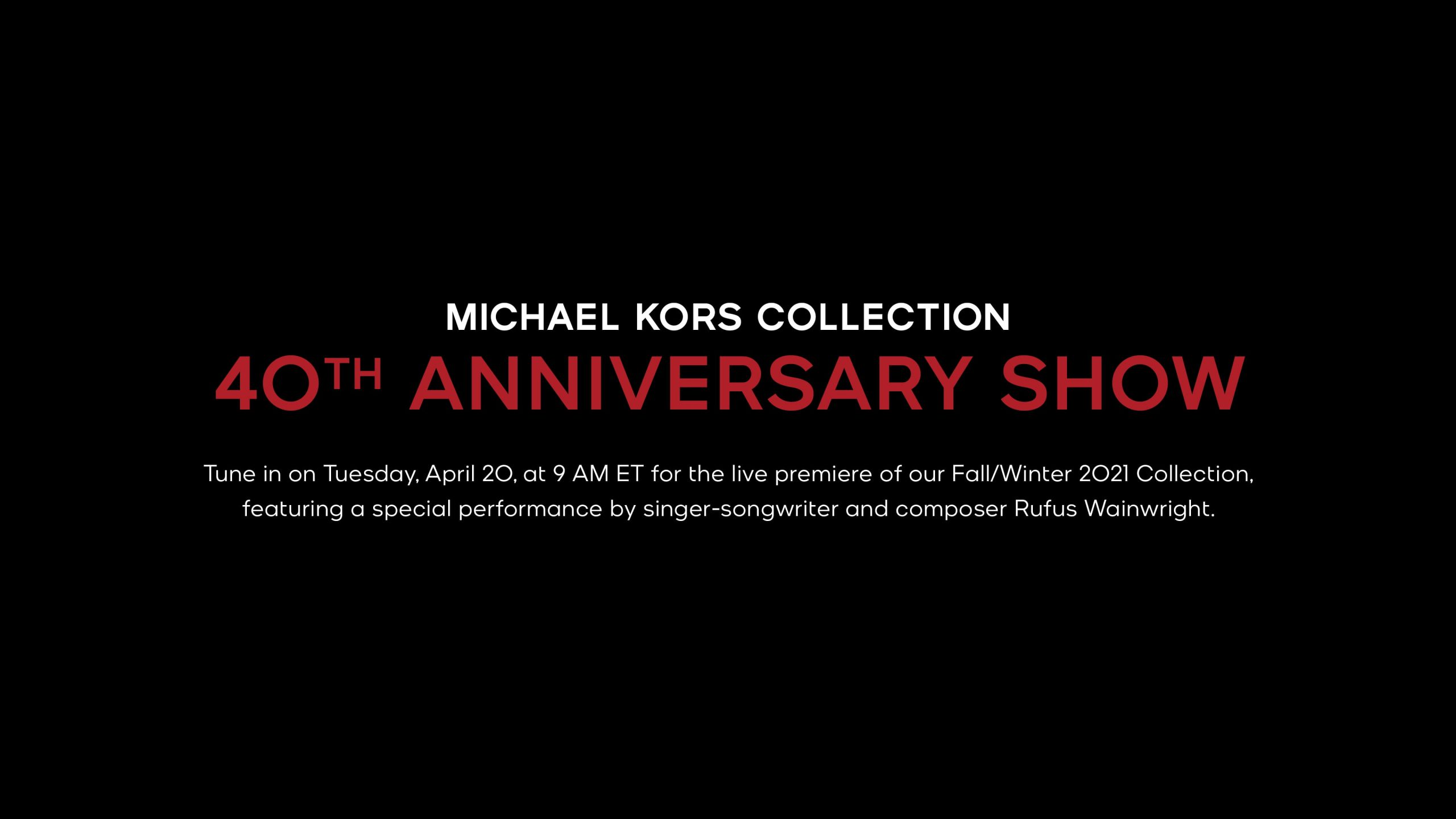 Watch Michael Kors Fall 2021 Fashion Show Live