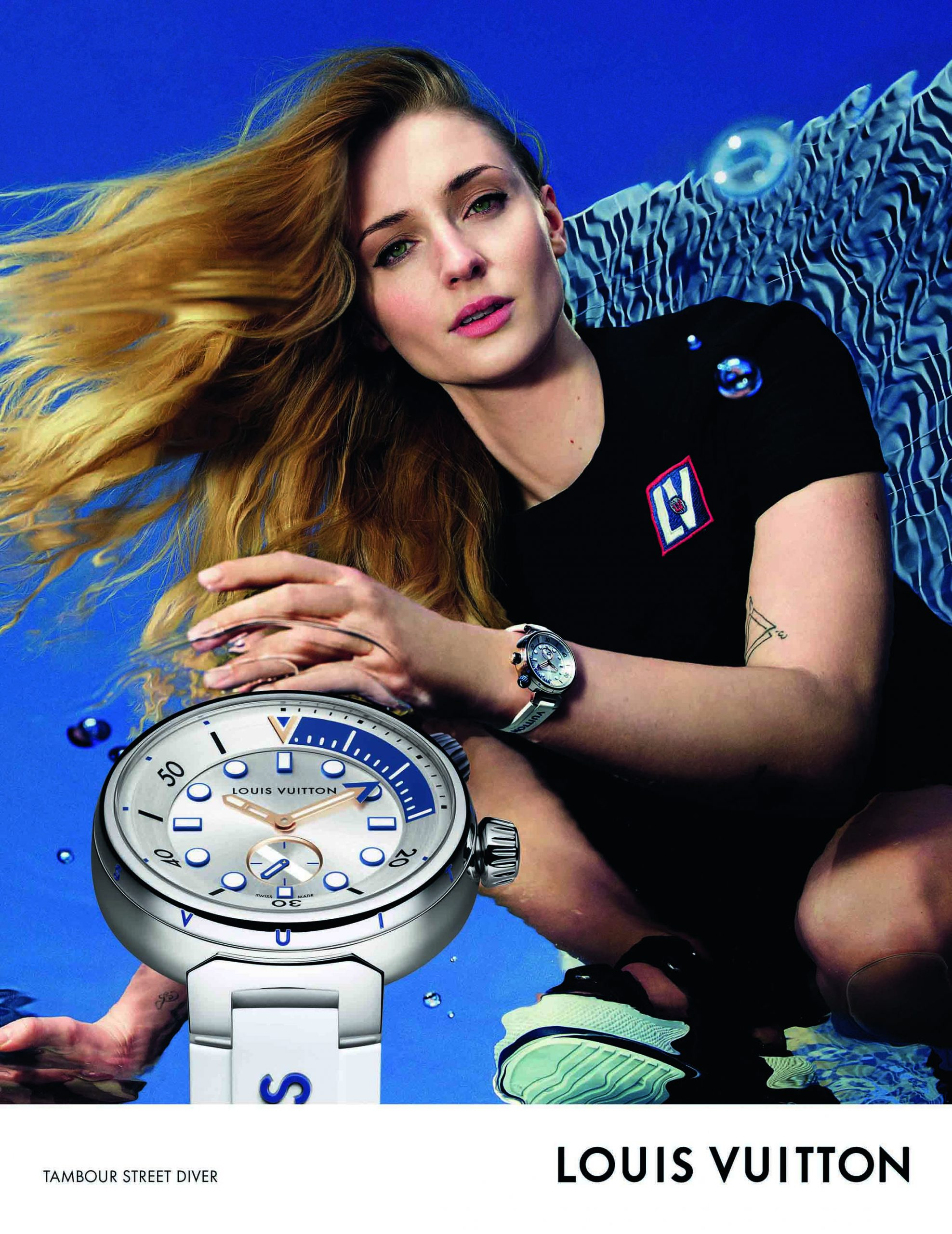 Louis Vuitton Tamour Street Diver Watch Spring 2021 Ad Campaign Photos