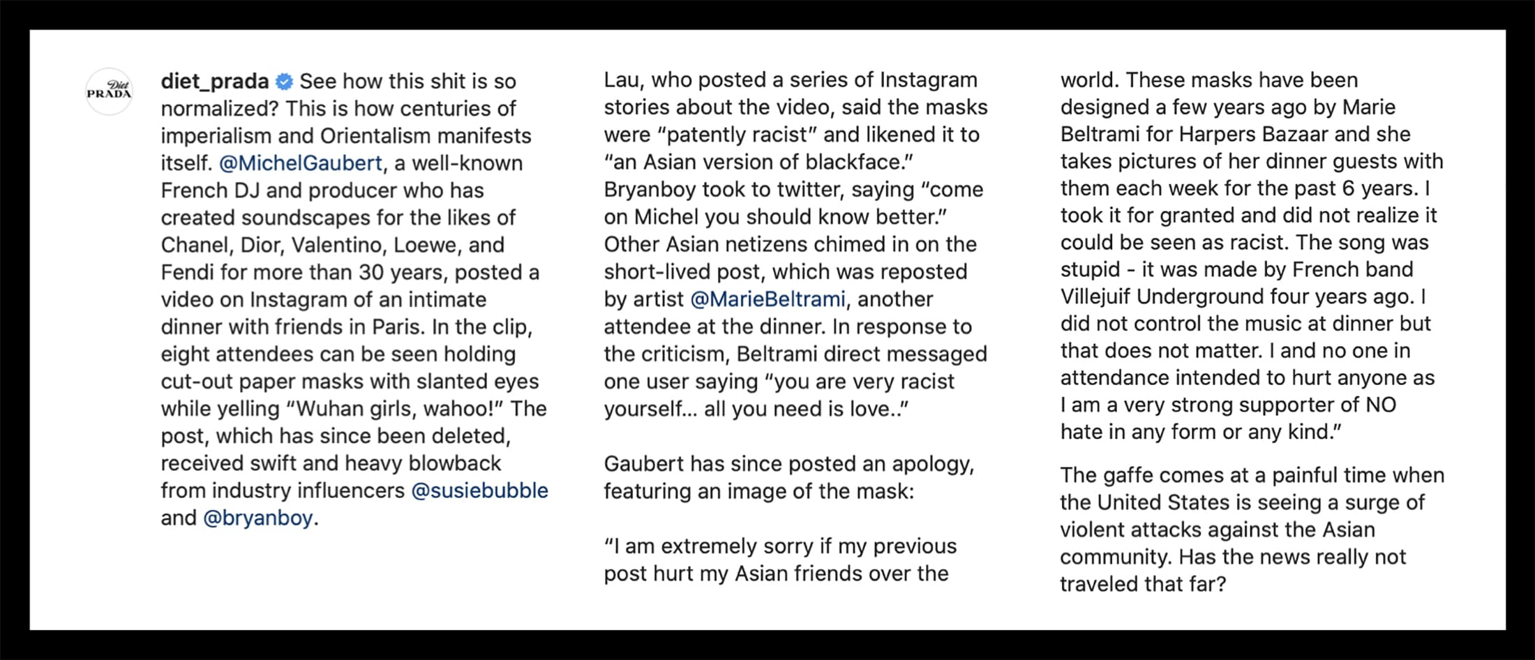 #STOPASIANHATE: Fashion's Myth and Reality
