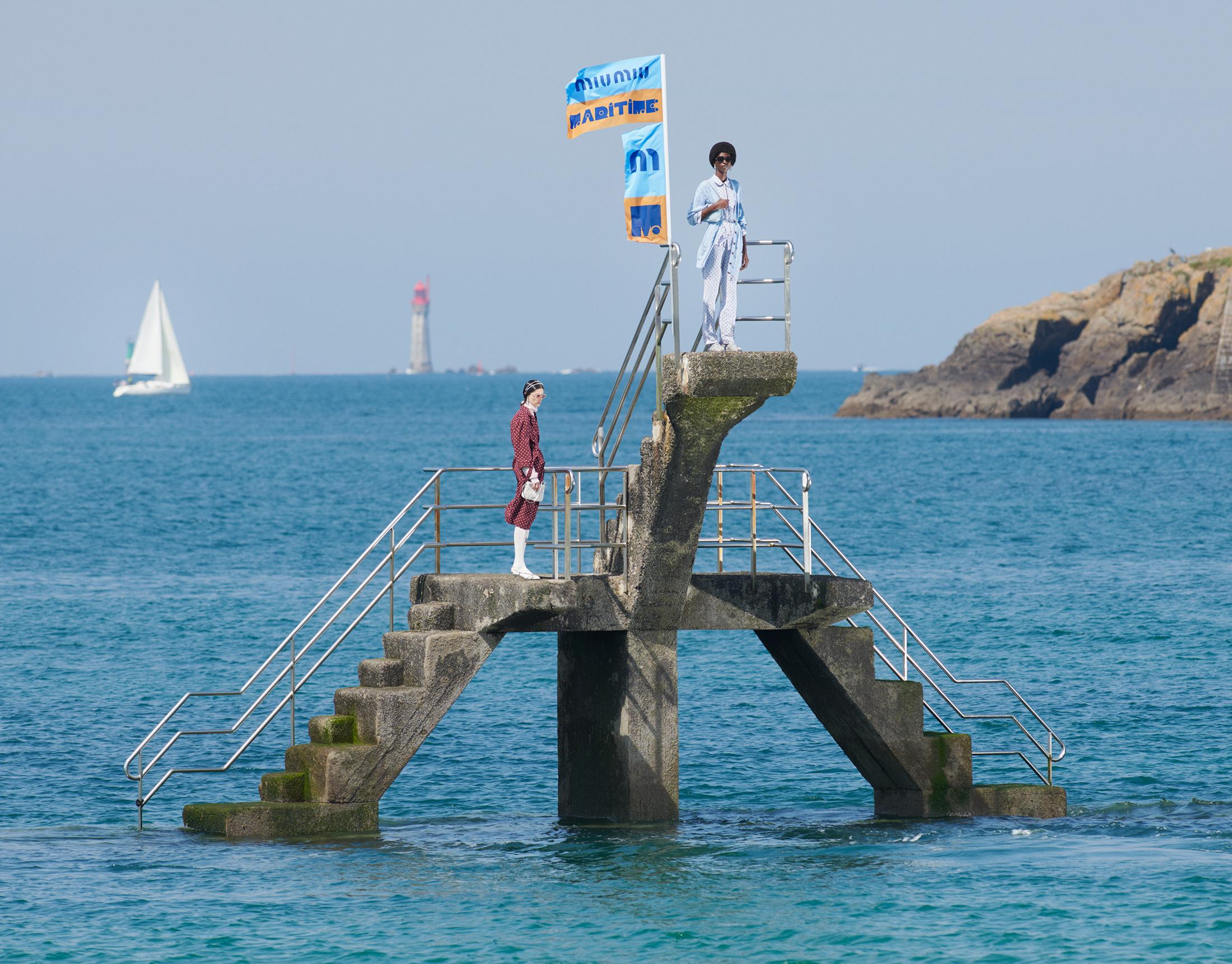 Miu Miu Maritime Summer 2021 Ad Campaign Photos