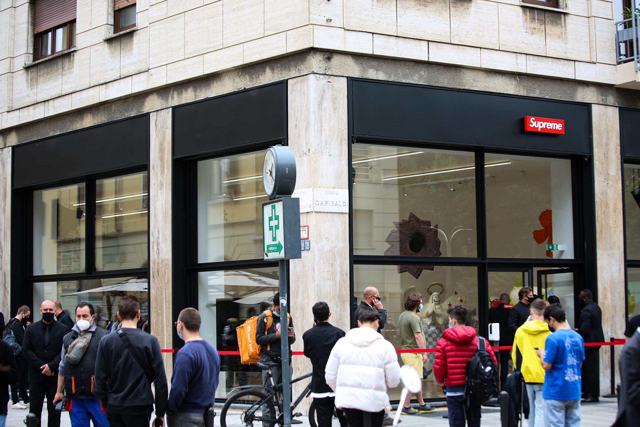 Milan Supreme Store Opening Street Style