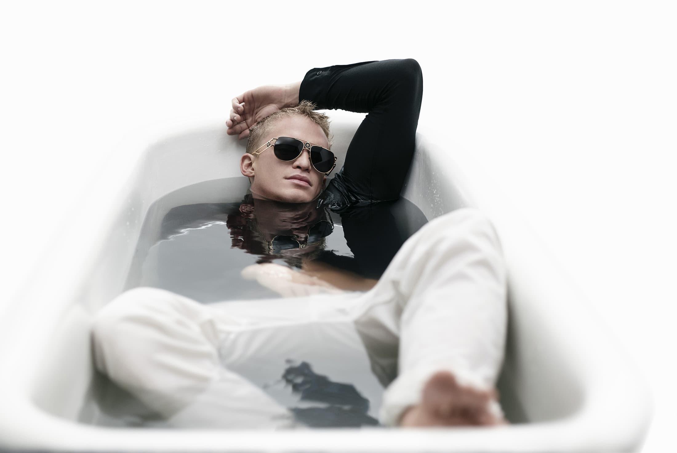 Versace Eyewear Spring 2021 Ad Campaign Cody Simpson Photos