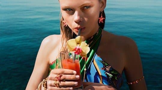 Versace 'La Vacanza' Summer 2021 Ad Campaign