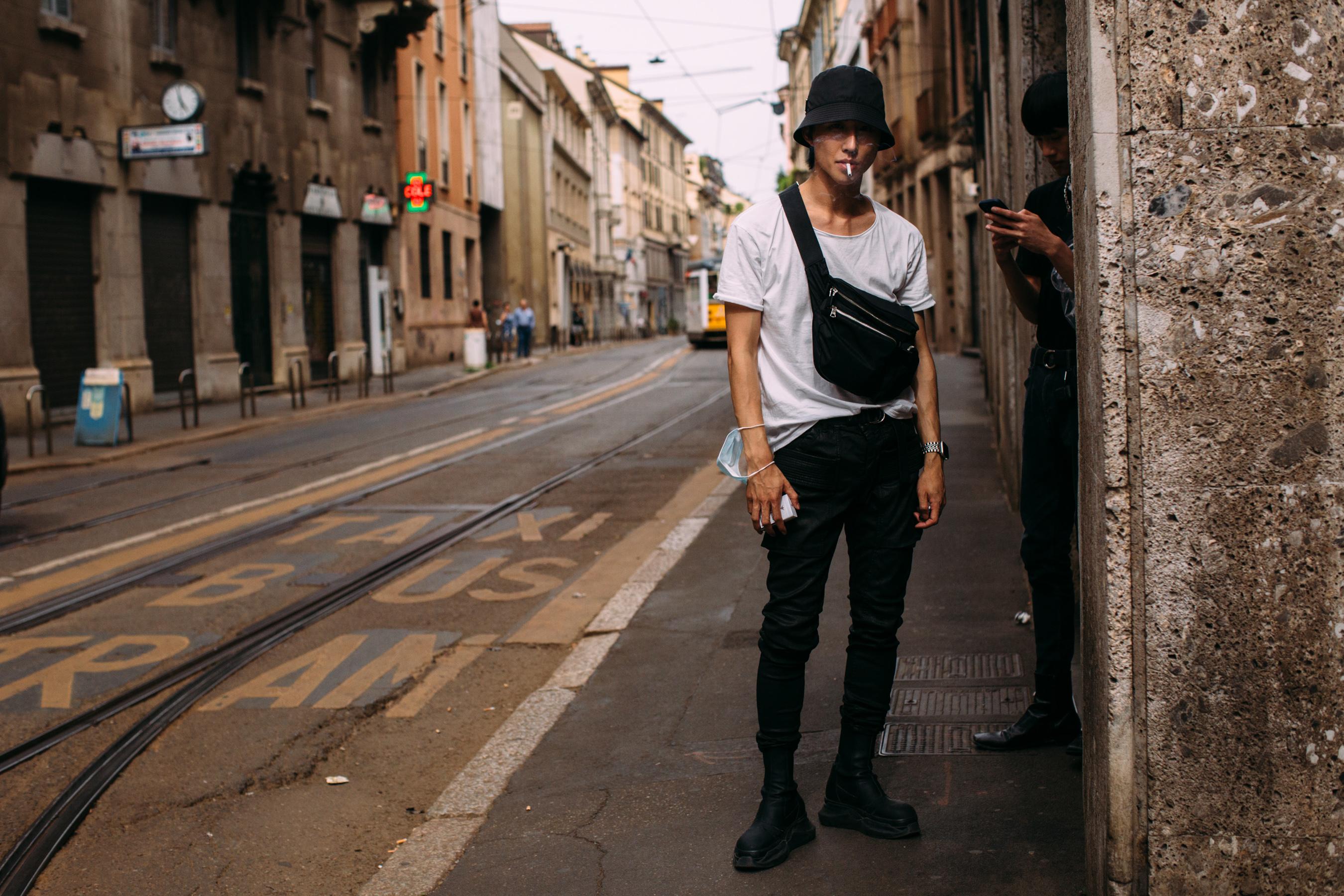 Milan Men's Street Style Spring 2022 Day 2