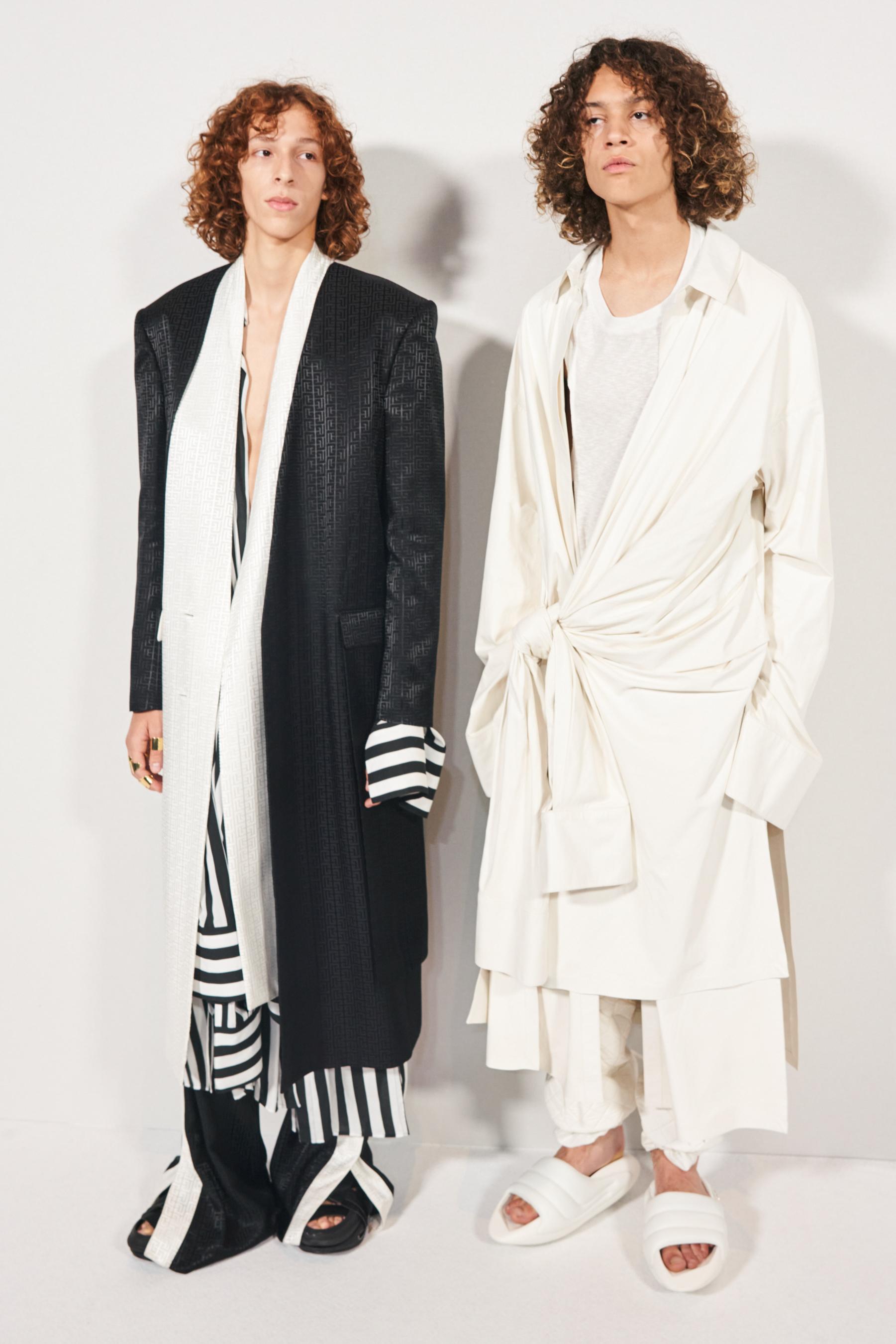 Balmain Spring 2022 Backstage Fashion Show