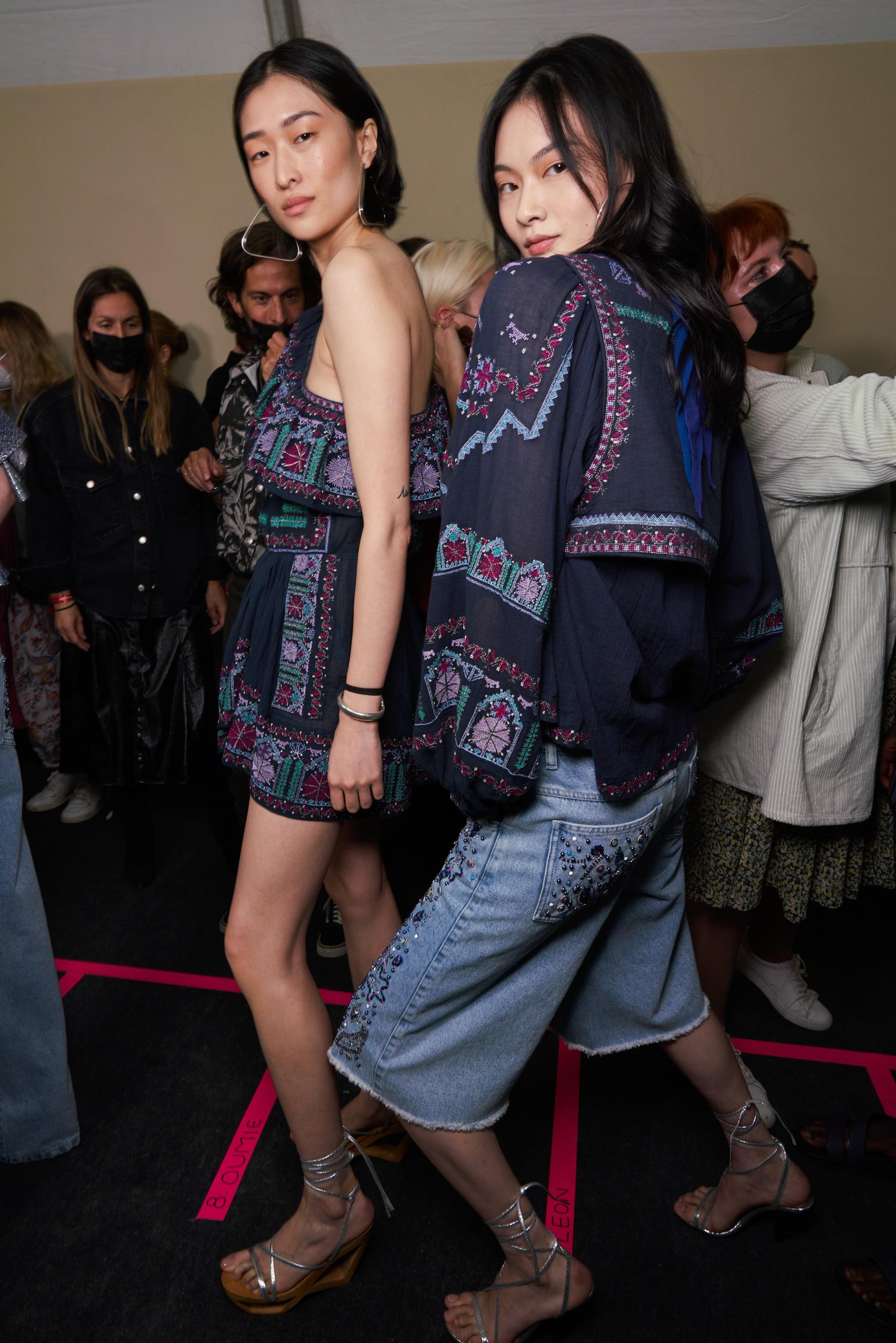 Isabel Marant Spring 2022 Backstage Fashion Show