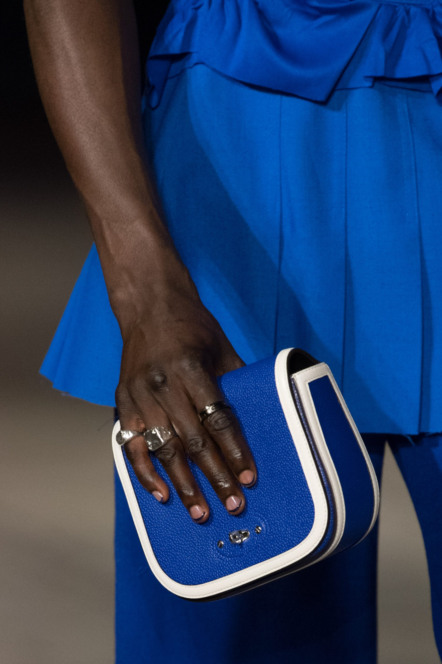 Richard Malone X Mulberry Spring 2022 Details Fashion Show