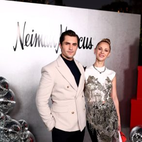 Phil Dunster and Juno Temple at the Neiman Marcus Holiday 2021 Event