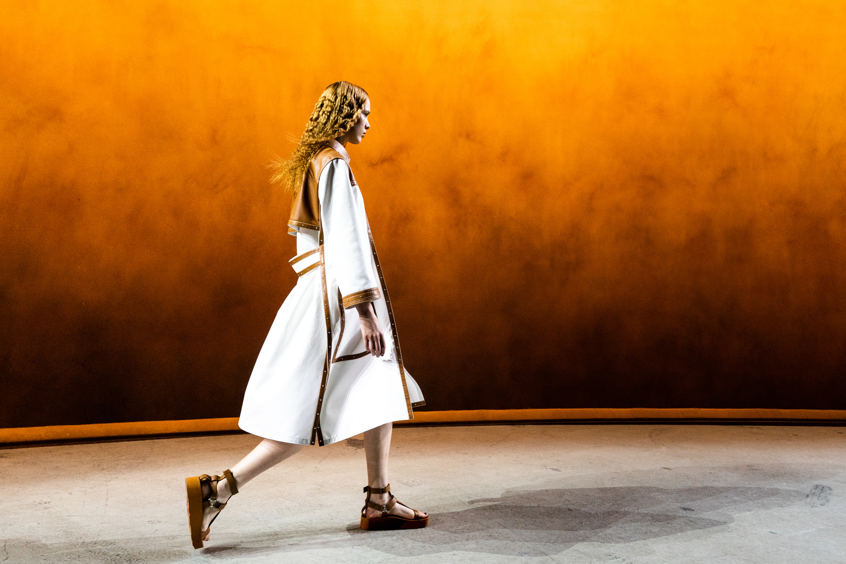 Hermes Spring 2022 Atmosphere Fashion Show