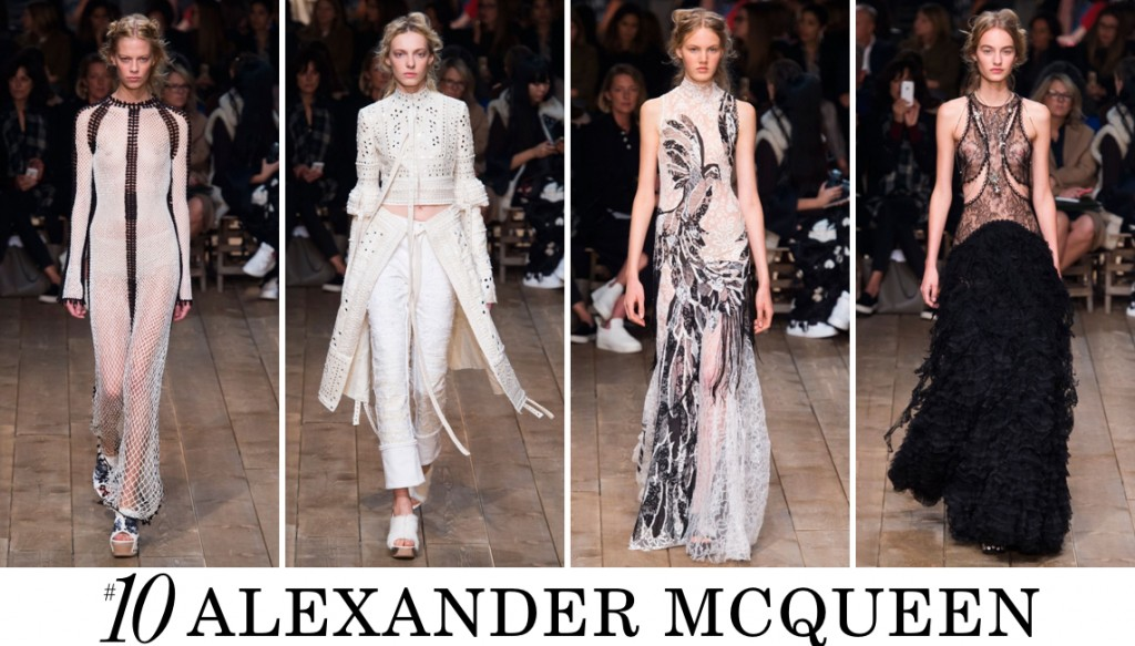 Alexander McQueen Spring 2016 Fashion Show Top 10 Photo
