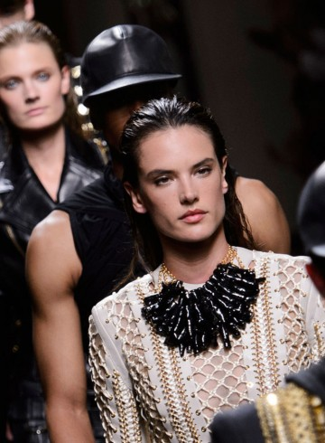 Balmain mesn fashion show spring 2016 photo
