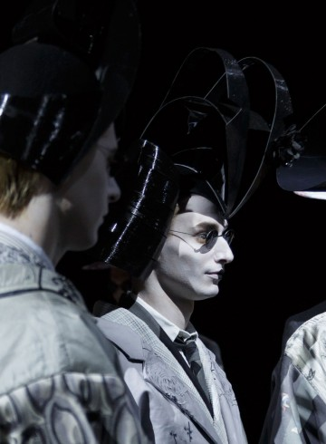 Thom Browne Mens fashion show backstage spring 2016 photo