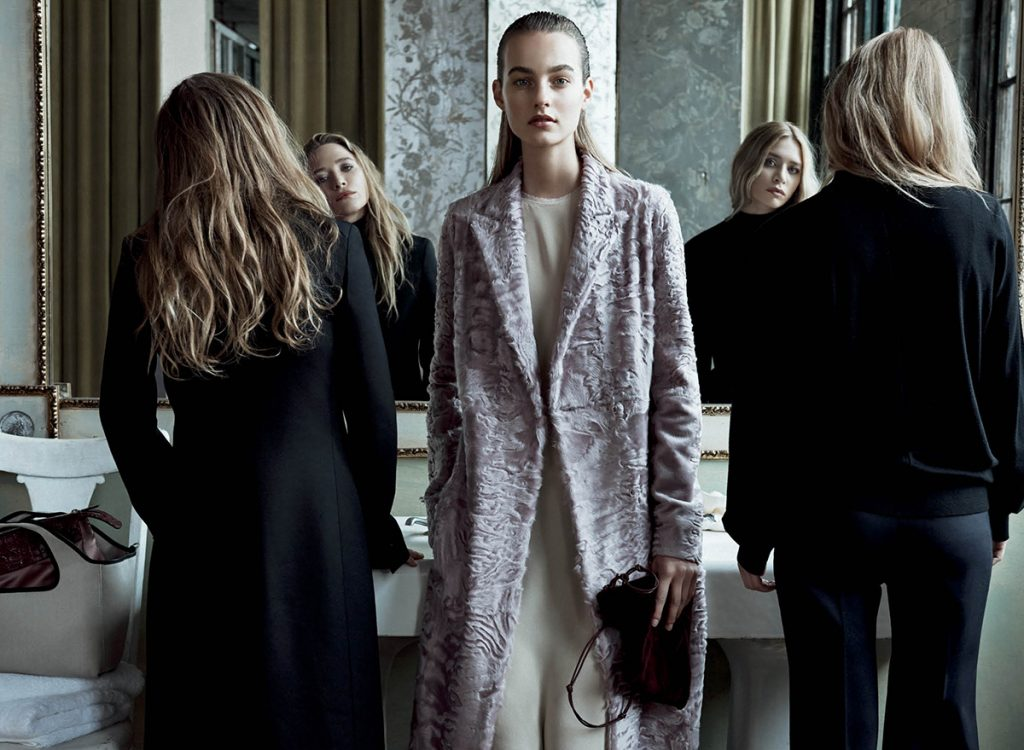 THE POWDER ROOM | THE ROW | Mary-Kate Olsen & Ashley Olsen with Maartje Verhoef