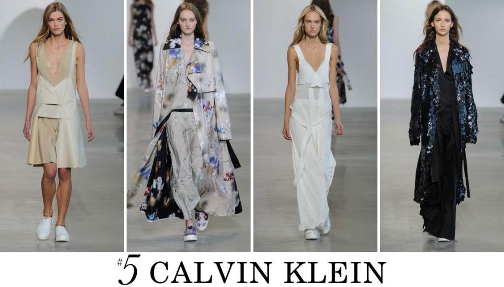 Calvin Klein Top 10 spring 2016 fashion show photo