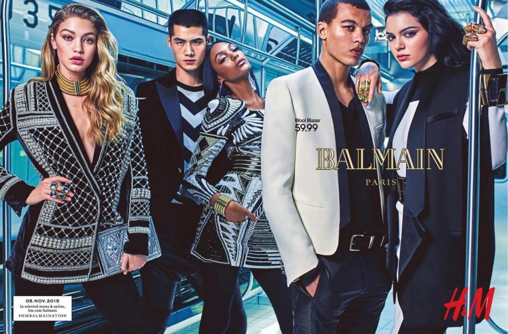 H&M Balmain ad fall 2015