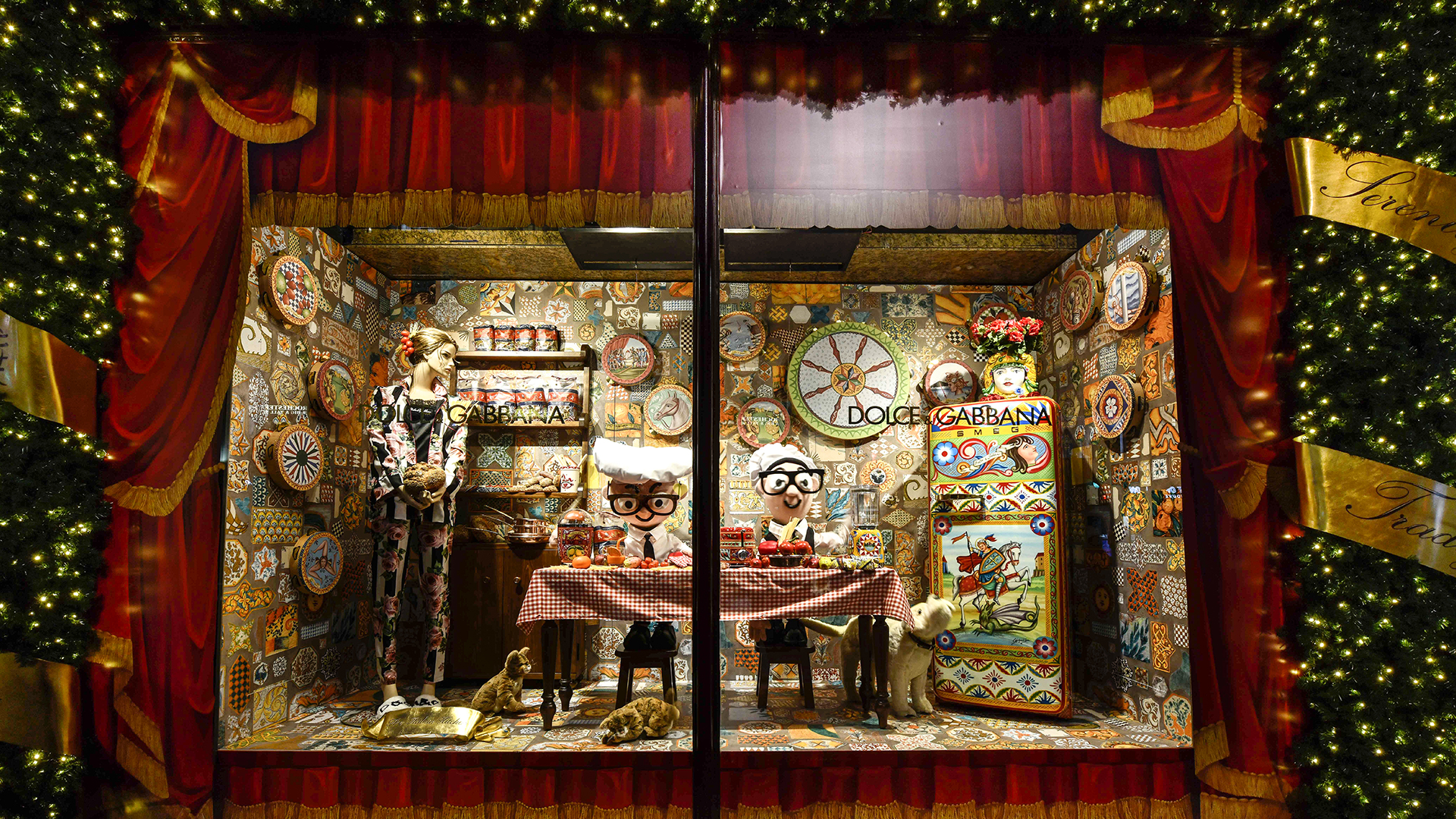 Dolce & Gabbana Takes Over Harrods for the Holiday 2017 Season