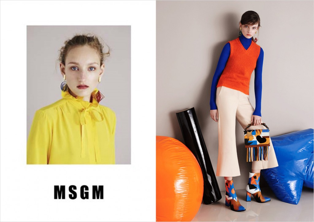 MSGM Fall 2015 Ad campaign photo