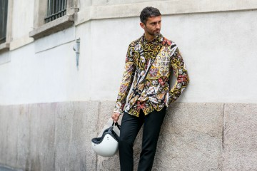 Milan Mens fashion week street style photo