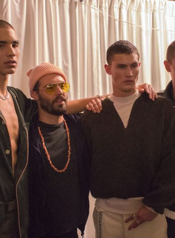 Palmiers du Mal Fall 2017 Menswear Fashion Show Backstage