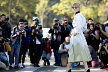 Paris Fashion week October 2015 Street Style Photo