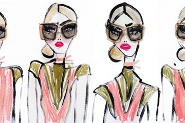 prada raw sunglasses illustration