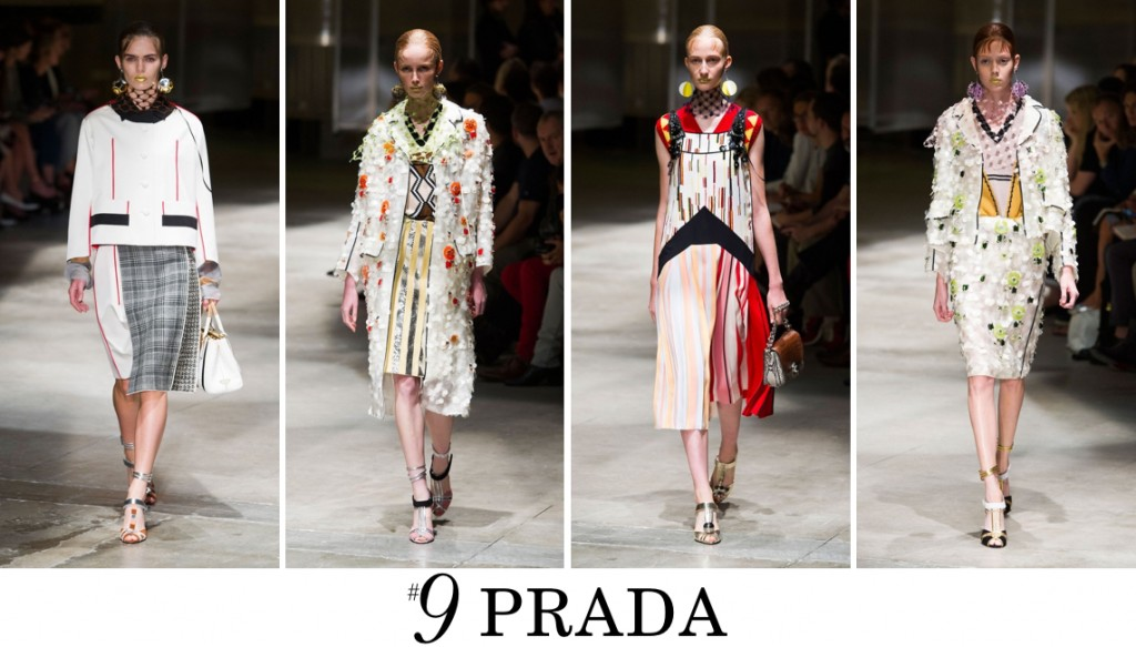 Prada Top 10 spring 2016 fashion show photo
