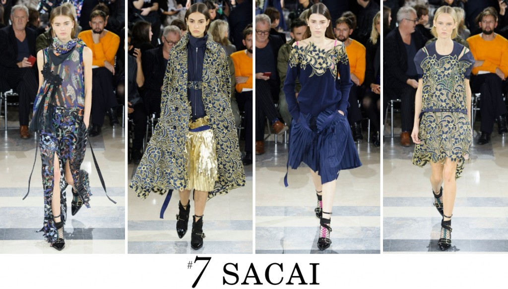 Sacai  Spring 2016 Fashion Show Top 10 Photo