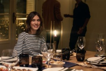 Alexa Chung Returns for an Awkward Parisian Dinner Party in AG's Spring 2017 Fashion Film