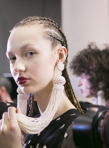 Andrew Gn Fall 2017 Fashion Show Backstage Beauty