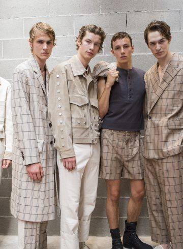 Dirk Bikkembergs Spring 2018 Men's Fashion Show Backstage