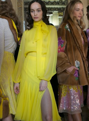 Blumarine Fall 2017 Fashion Show Backstage