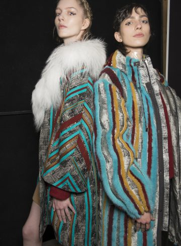 Cristiano Burani Fall 2017 Fashion Show Backstage
