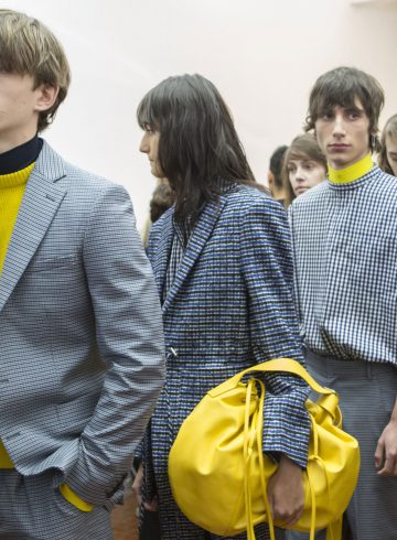 Cedric Charlier Fall 2017 Menswear Backstage