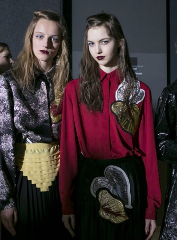 Marco De Vincenzo Fall 2017 Fashion Show Backstage