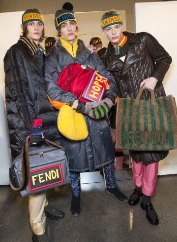 Fendi Fall 2017 Menswear Fashion Show Backstage