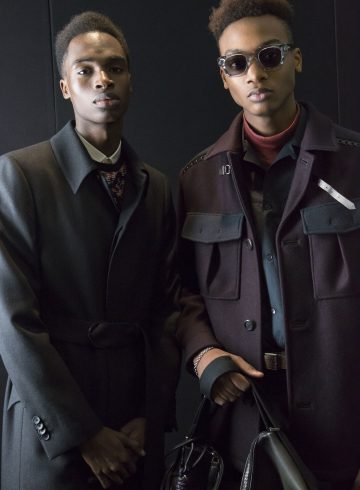 Salvatore Ferragamo Fall 2017 Menswear Fashion Show Backstage