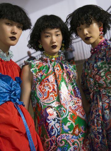Kenzo Spring 2018 Fashion Show Backstage