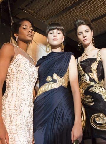 Laskaris Fall 2017 Couture Fashion Show Backstage