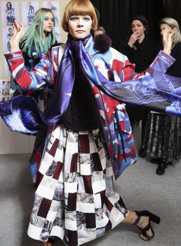 Leonard Fall 2017 Fashion Show Backstage Cont.