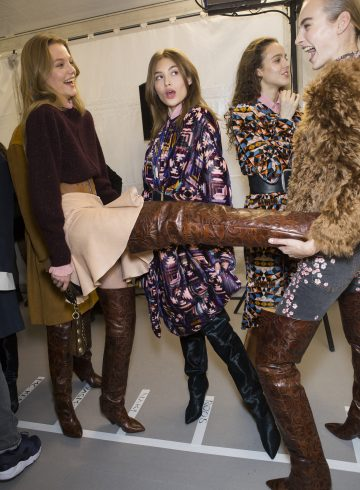 Isabel Marant Fall 2017 Fashion Show Backstage