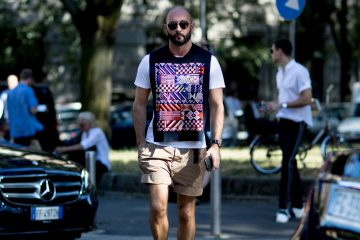 Milan Fashion Week Men's Street Style Spring 2018 Day 2