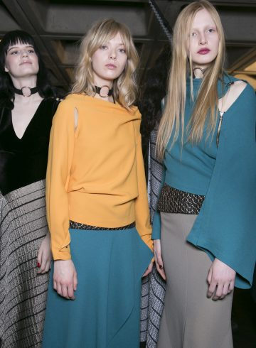 Roland Mouret Fall 2017 Fashion Show Backstage
