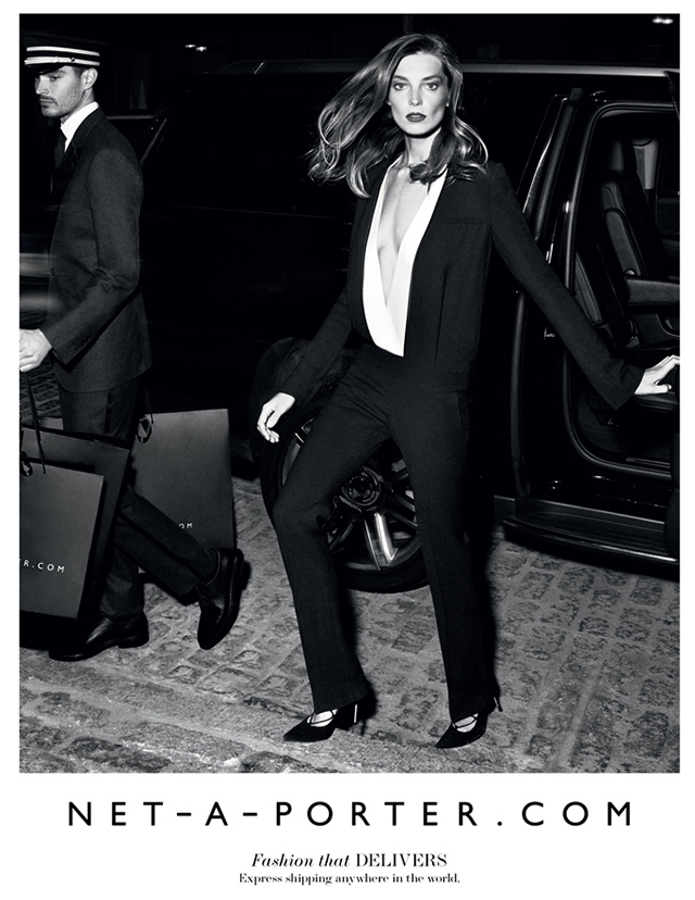 Daria Werbowy in Net-a-Porter's fall campaign.