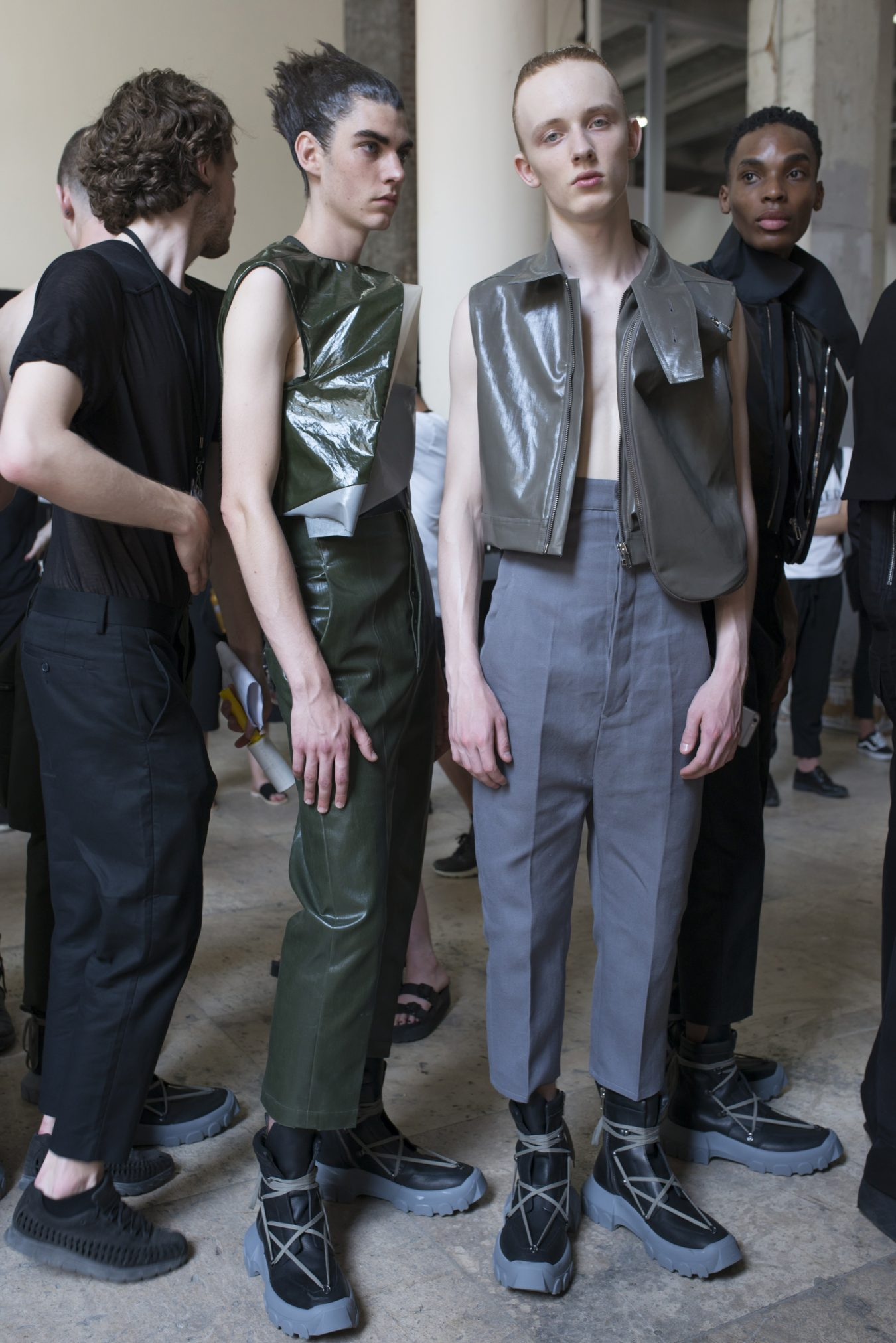 Rick Owens Spring 2018 Men's Fashion Show Backstage