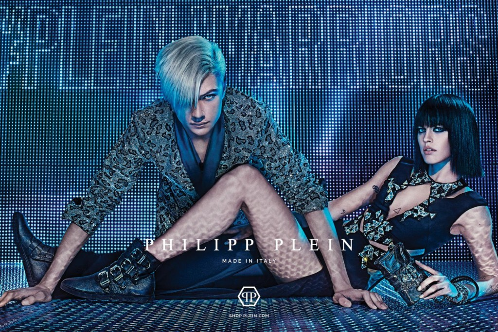 Philipp Plein fall 2015 ad campaign lucky blue smith Sarah Brannon photo